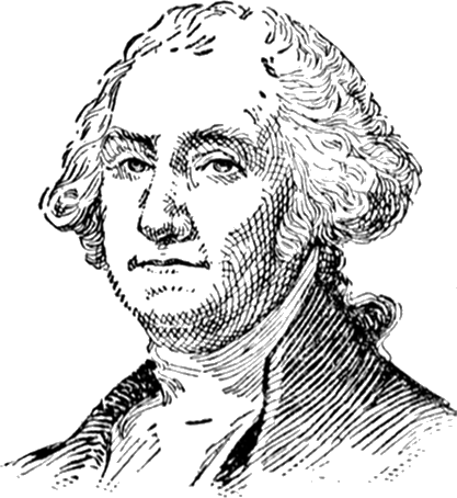 An illustration of George Washington, in whose spirit the Forum is rooted.